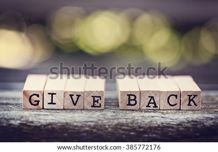 Give Back Royalty-Free Stock Photo #385772176