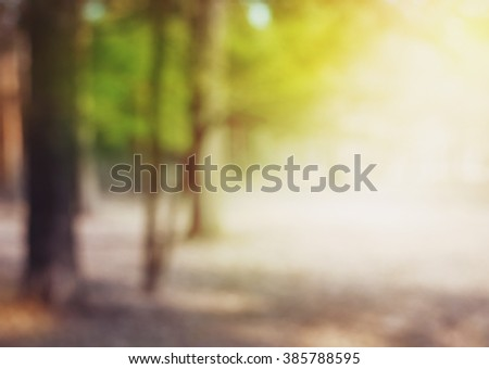 Abstract blurred nature background with bright sunlight #385788595
