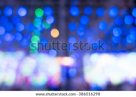 Blurred of lighting carnival background for your design #386016298