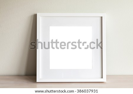 Image of mockup scene with white square frame.
