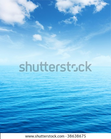 Blue sea and sky #38638675