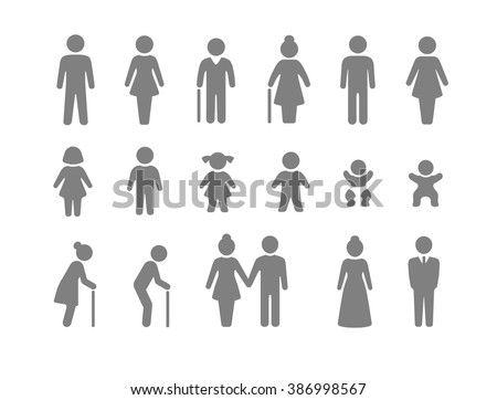 Family and friends icon set Royalty-Free Stock Photo #386998567
