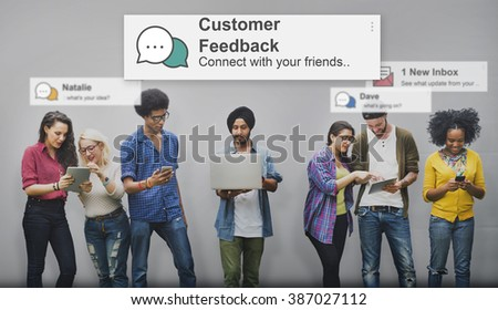 Customer Feedback Opinion Reply Report Concept #387027112
