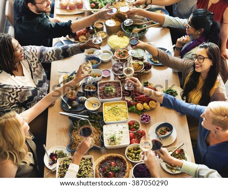 Food Buffet Catering Dining Eating Party Sharing Concept #387050290