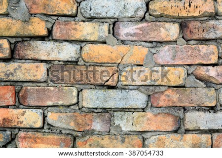 old brick wall  #387054733