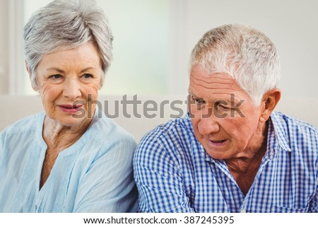 Senior couple upset with each other at home #387245395