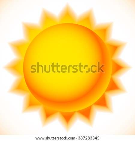 Sun graphics isolated on white. Summer, sunny weather, happiness concepts.