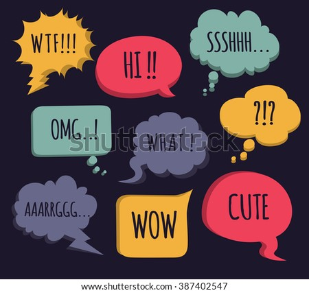 colorful comic speech bubble