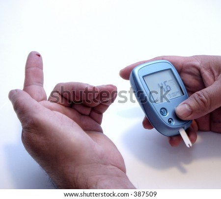 Blood Glucose Monitor - room for text #387509