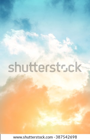 sun and cloud background with a pastel colored gradient. #387542698