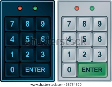 Keypad Entry (vector enable in portfolio) #38754520