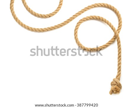 ship rope isolated on white background Royalty-Free Stock Photo #387799420