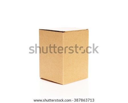 Cardboard boxes isolated on white background #387863713
