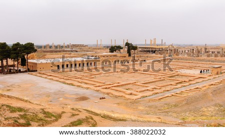 Panorama of the ancient city of Persepolis, Iran. UNESCO World heritage site #388022032
