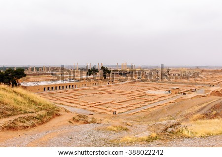 Panorama of the ancient city of Persepolis, Iran. UNESCO World heritage site #388022242