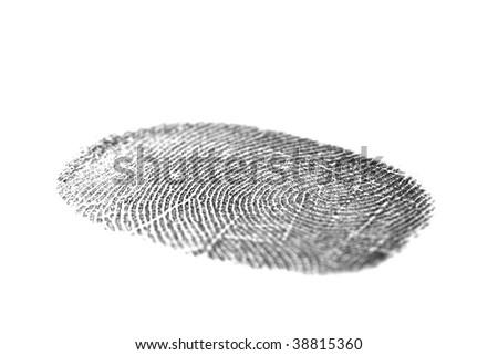 Black fingerprint isolated on a white background #38815360