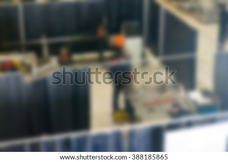 Industrial production factory theme blur background #388185865