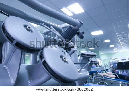 Equipment of fitness club #3882082
