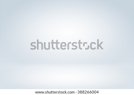 Clear empty photographer studio background Abstract, background texture of beauty dark and light clear blue, cold gray, snowy white gradient flat wall and floor in empty spacious room winter interior Royalty-Free Stock Photo #388266004