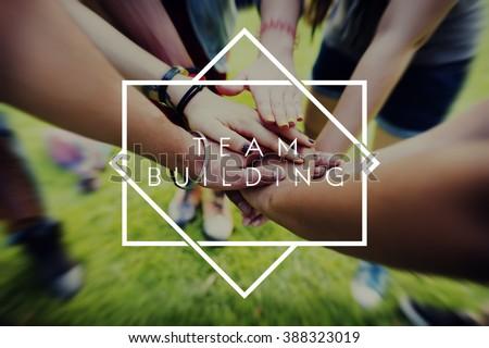 Team Building Team Collaboration Concept #388323019