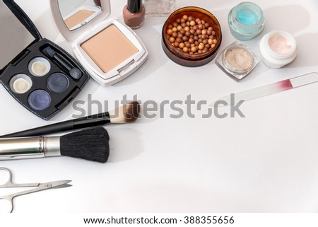 cosmetic things for best makeup on white #388355656
