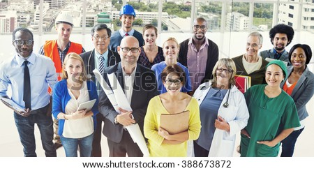 Celebrating Diverse People Various Occupations Concept Royalty-Free Stock Photo #388673872