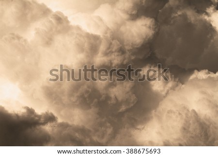 Photo of the sky with big clouds