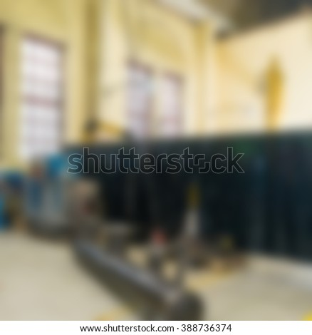 Industrial production factory theme blur background #388736374
