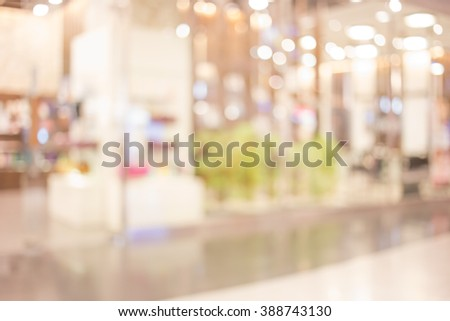 Abstrack background  with bokeh in shopping mall. #388743130