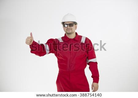 Portrait of an engineer. Engineer. Oilman #388754140