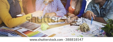 Designers Team Planning Strategy Working Concept #388818547