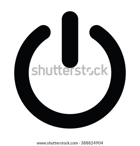 Power icon Vector Illustration on the white background. Royalty-Free Stock Photo #388824904