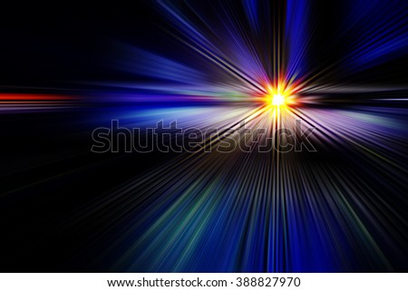 abstract background with a bright flash in the center and rays