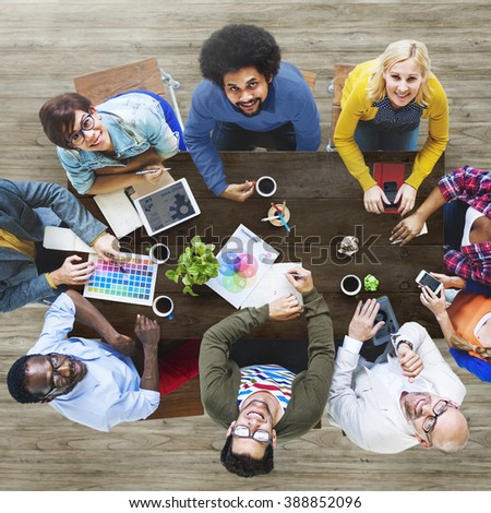 Group of Diverse Designers Having a Meeting Concept #388852096