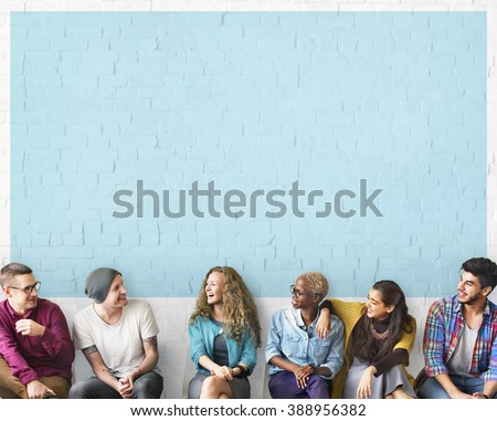 Friends Talking Communication Discussion Unity Concept Royalty-Free Stock Photo #388956382