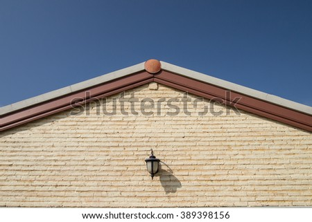 Detail of house exterior wall #389398156
