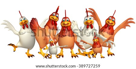 3d rendered illustration of Hen Collection
