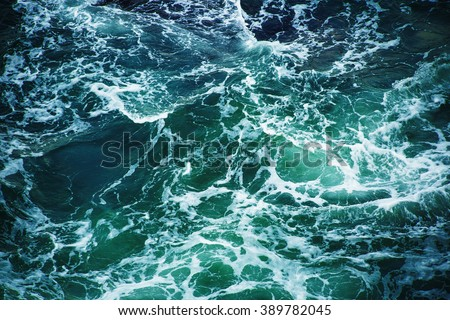Abstract splash turquoise sea water for background #389782045