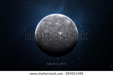 Mercury - High resolution 3D images presents planets of the solar system. This image elements furnished by NASA.