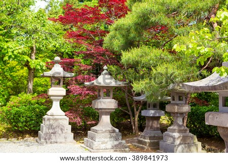 Part of Zenkoji Temple, Nagano, JAPAN. One of the most important temples in Japan which was built in the 7th century #389841973