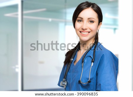 Young nurse portrait