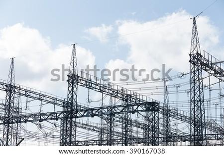 High Voltage Electrical Substation #390167038