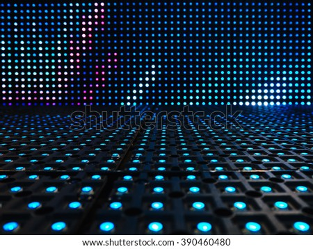 Led light digital Pattern Technology system Abstract background #390460480