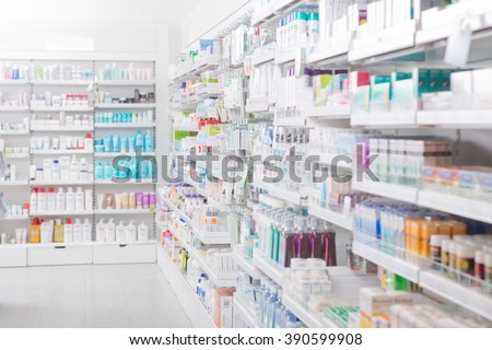 Pharmacy Interior Royalty-Free Stock Photo #390599908