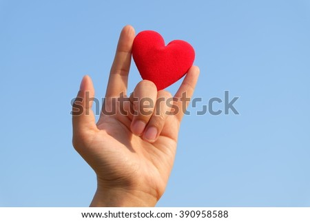 heart and hand  #390958588