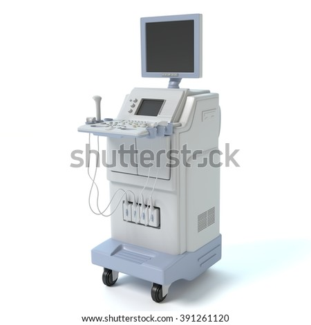 3d illustration of an ultrasound machine. #391261120