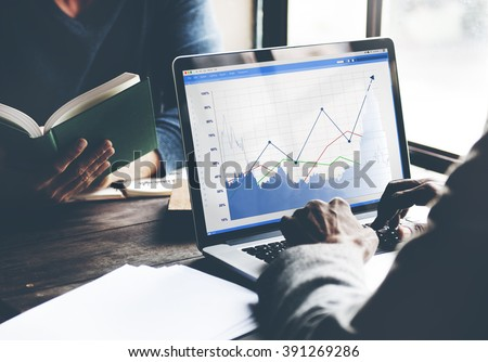 Business Sales Increase Revenue Shares Concept Royalty-Free Stock Photo #391269286