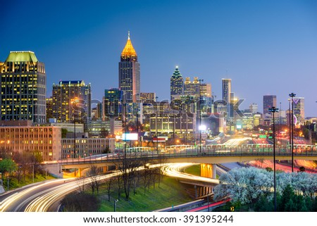 Atlanta, Georgia, USA downtown skyline.