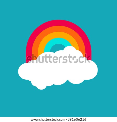 Abstract cute bright cartoon cloud. Raindrops of colorful hearts sweet illustration. Kids bright decorative background. Cute cloud poster design for baby room decor, kids cloth decoration