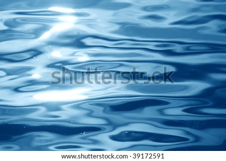 blue water background with smooth ripples in it #39172591